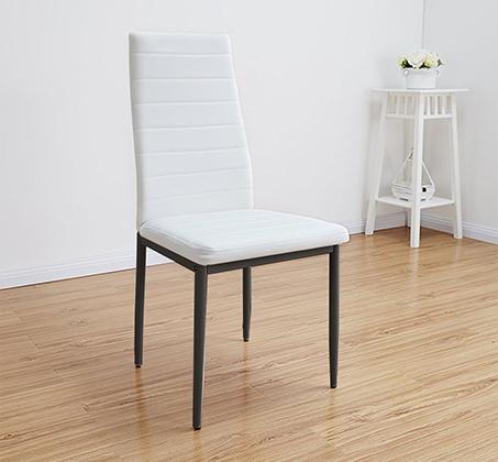 כסא לפינת אוכל מרופד דגם EVORA דמוי עור לבן