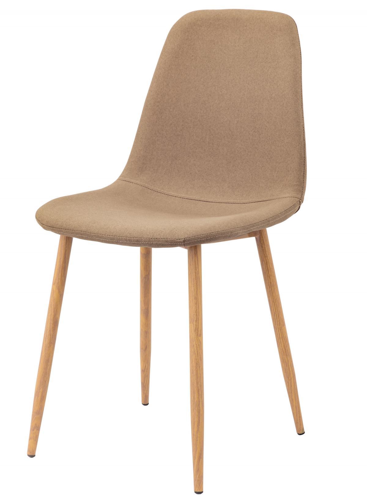 כסא לפינת אוכל דגם SOLNA בד אריג חום
