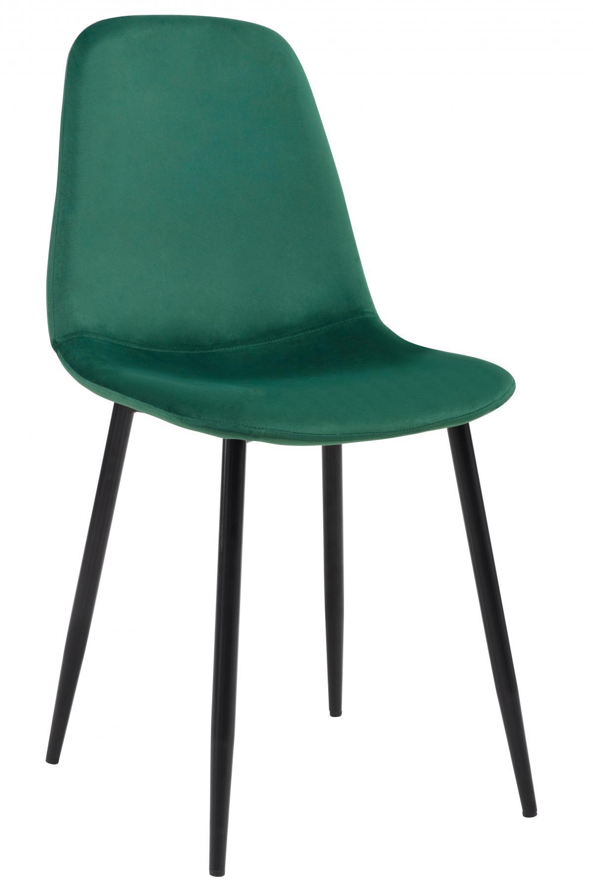 כסא לפינת אוכל דגם SOLNA בד קטיפתי ירוק
