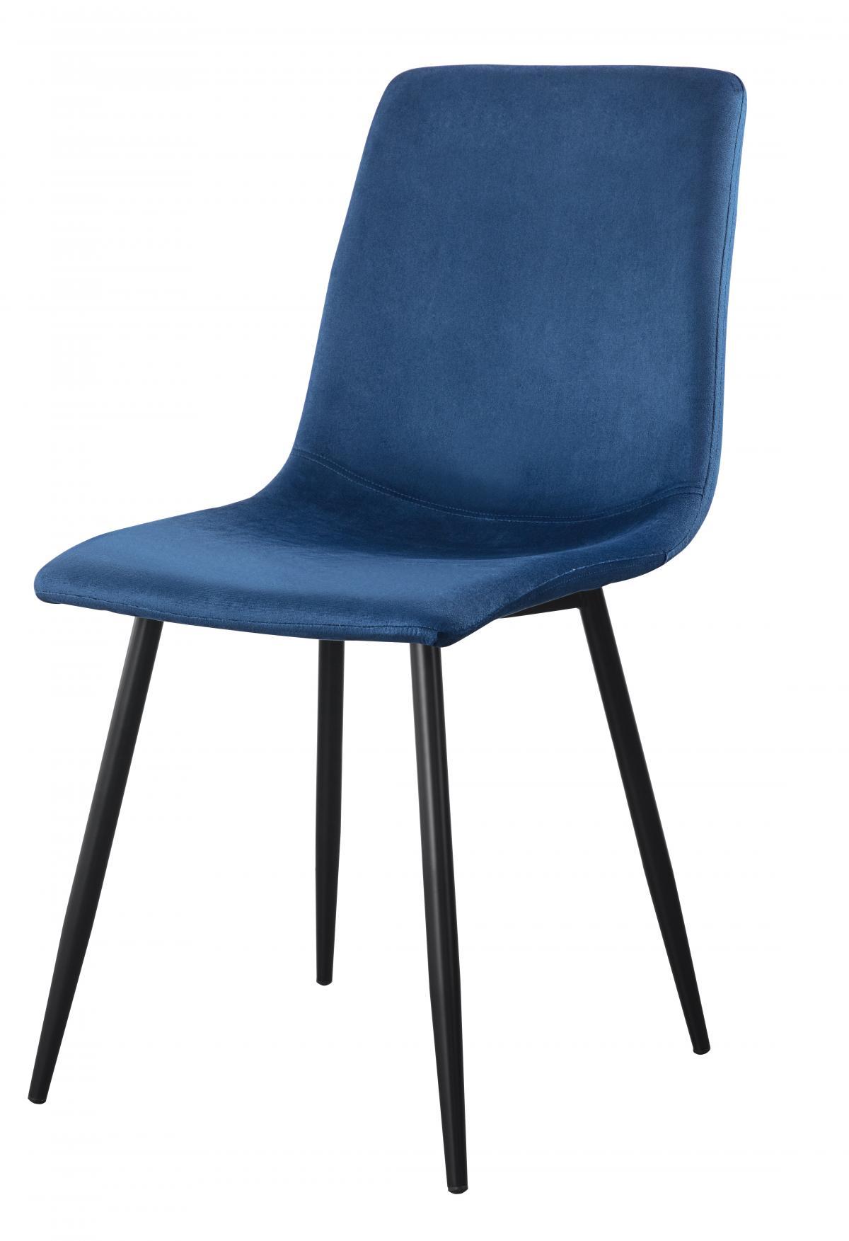 כסא לפינת אוכל דגם Madison בד קטיפתי כחול