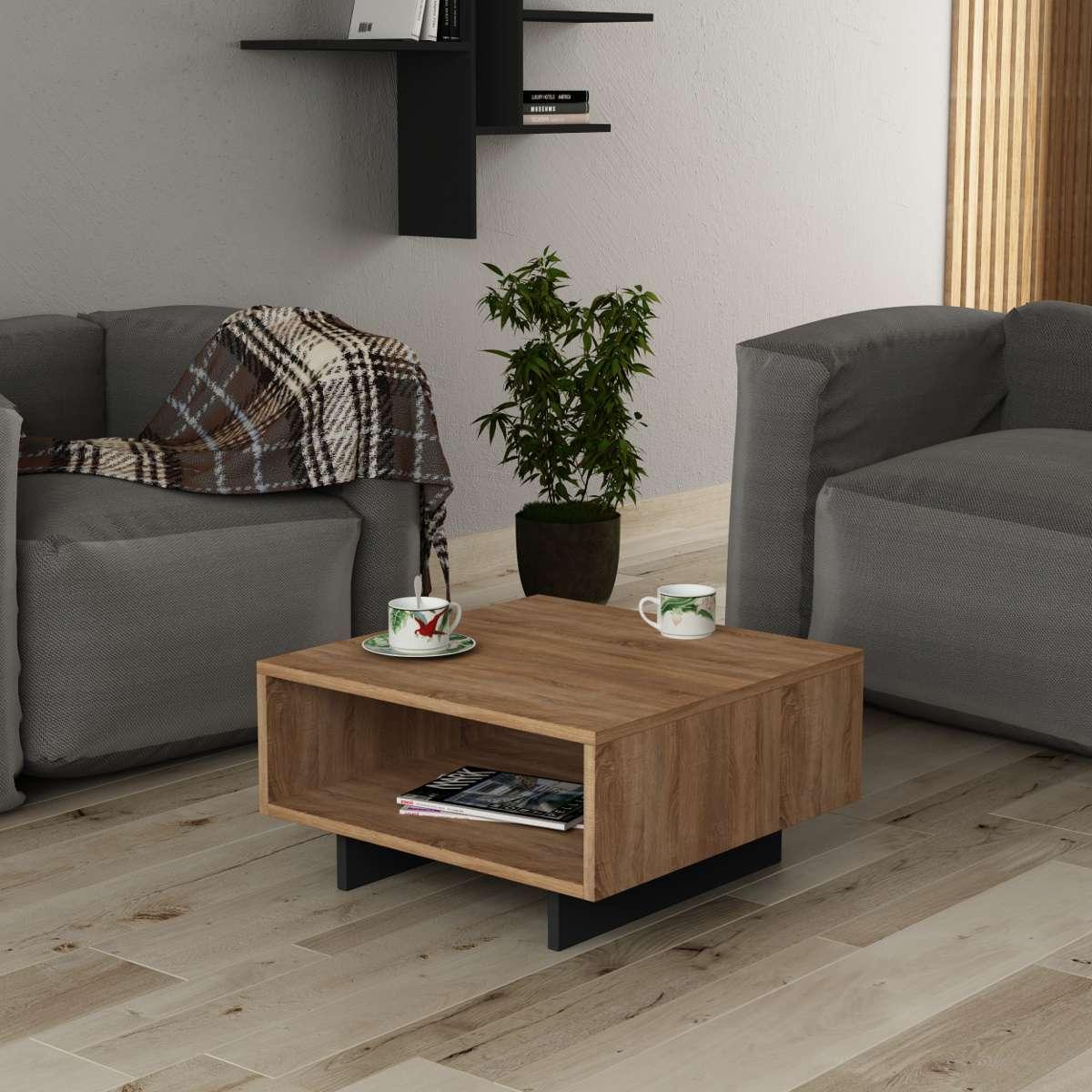 שולחן סלון Hola אלון/אפור מסדרת Decoline
