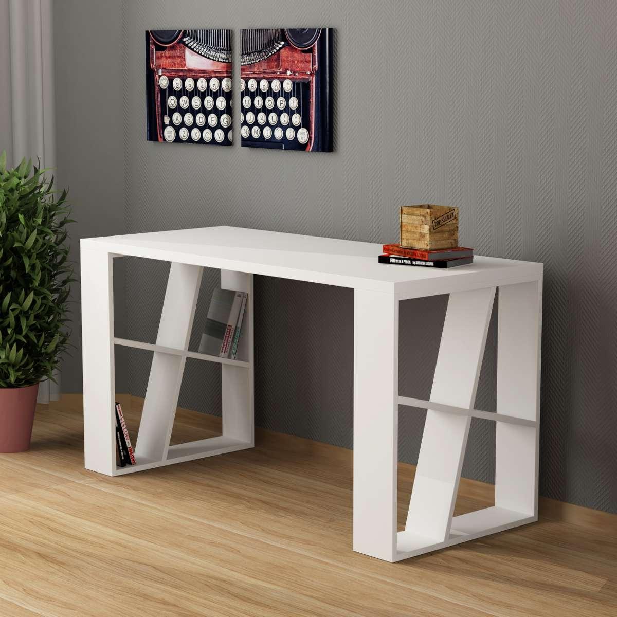 שולחן כתיבה Honey Working table לבן מסדרת Decoline