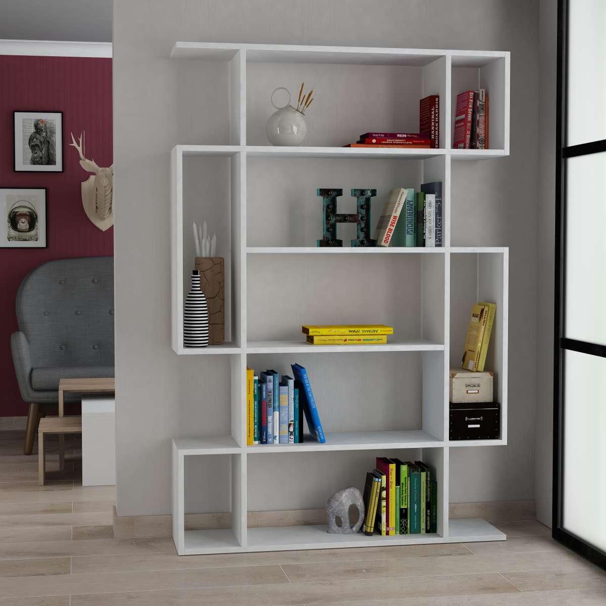 כוננית Mito Bookcase לבן מסדרת Decoline
