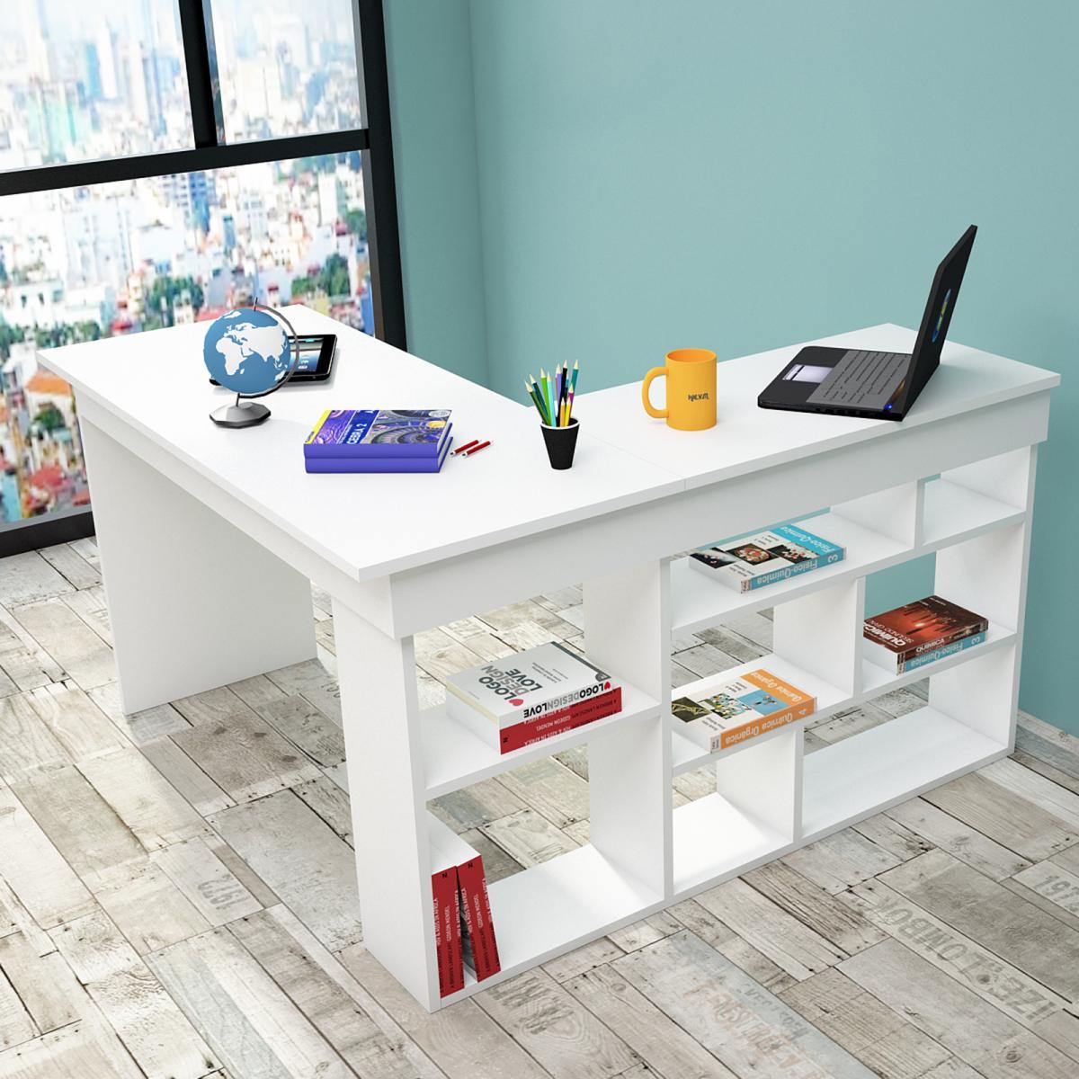 שולחן כתיבה Ceto-Corner CT5-W לבן מסדרת Peyton