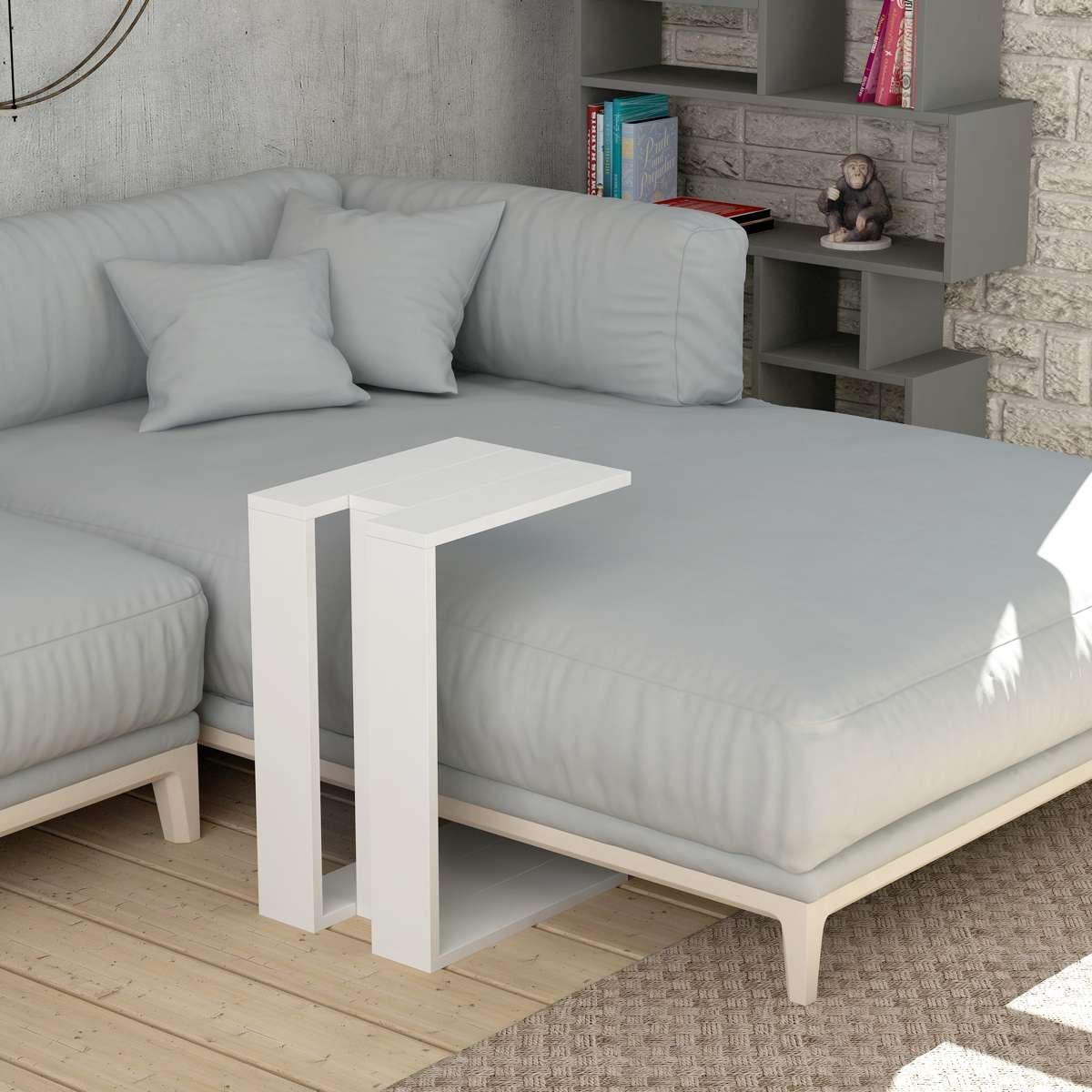 שולחן צד Muju C לבן מסדרת Decoline