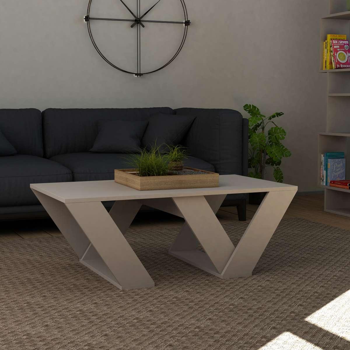 שולחן סלון Pipra מוקה מסדרת Decoline
