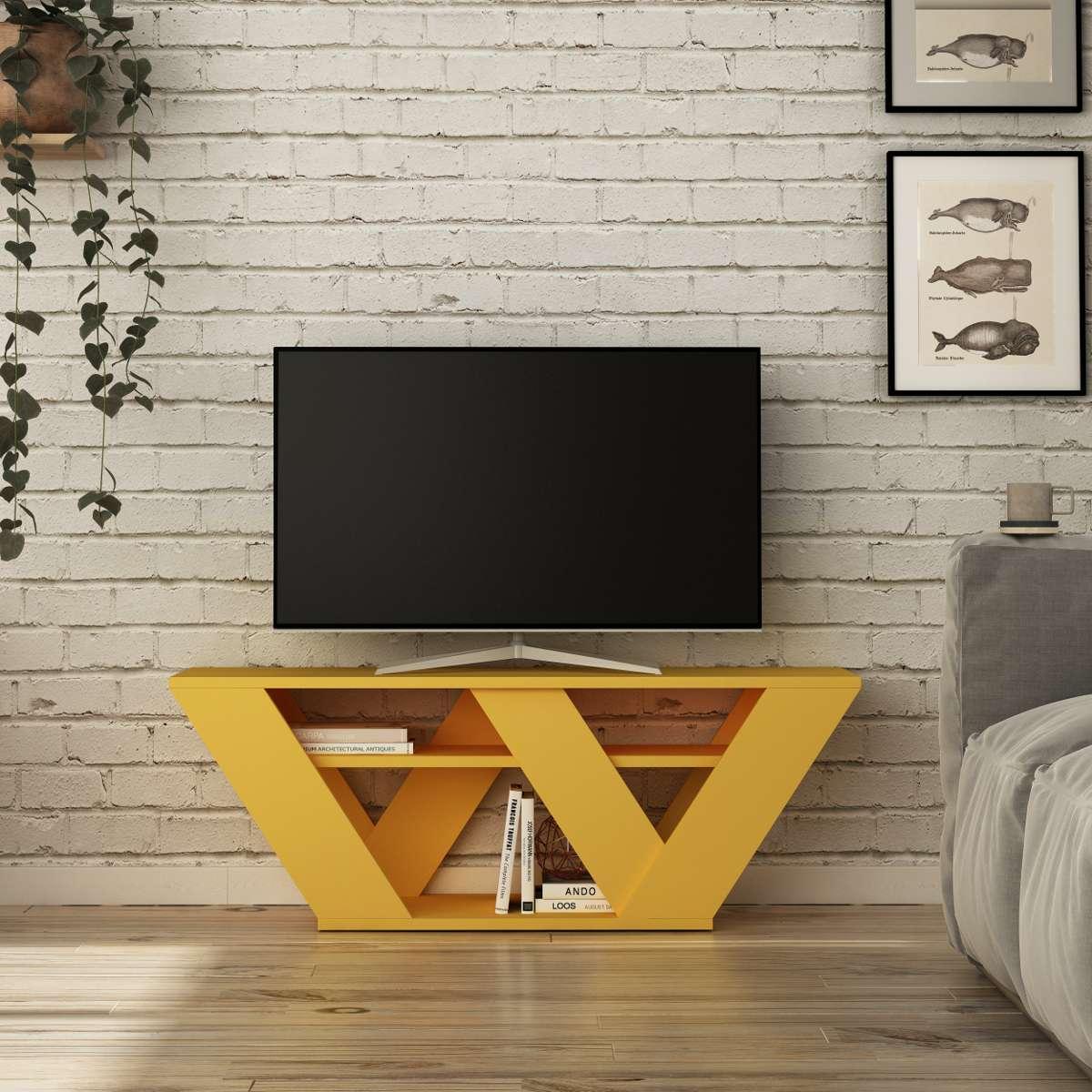 מזנון טלוויזיה Pipralla צהוב 110 ס