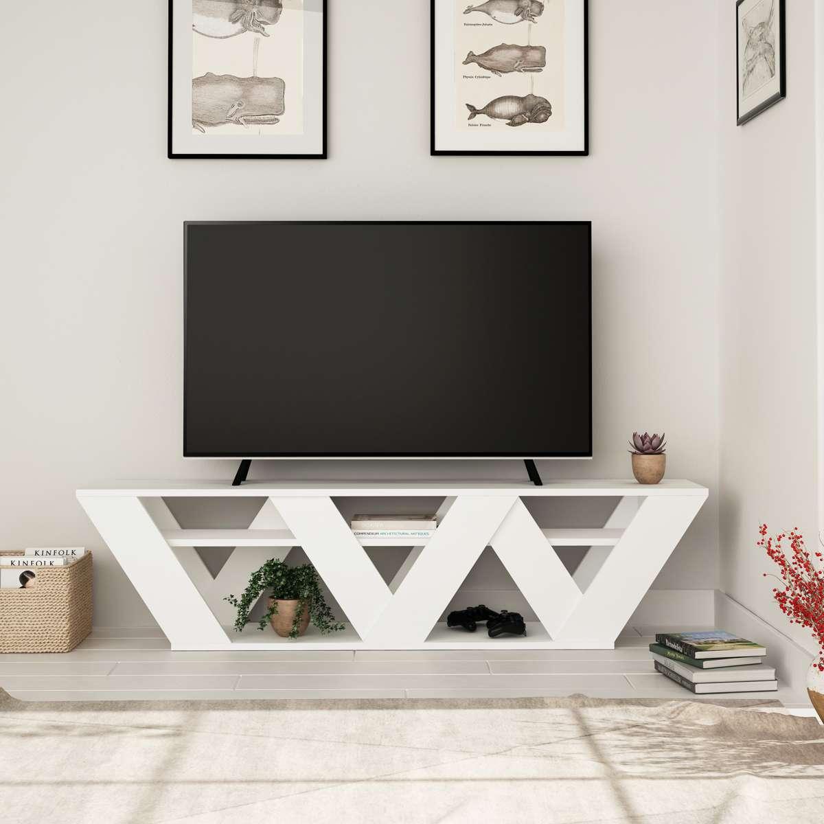 מזנון טלוויזיה Ralla לבן 158ס