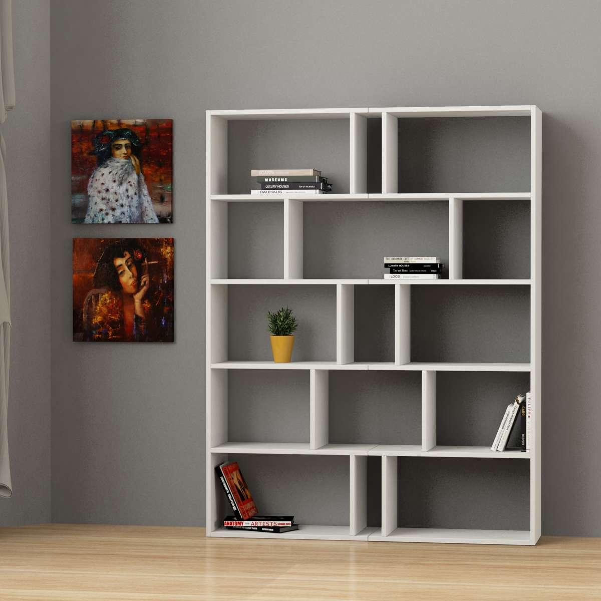 זוג כוננית  Tapi Bookcase Set of 2 לבן מסדרת Decoline