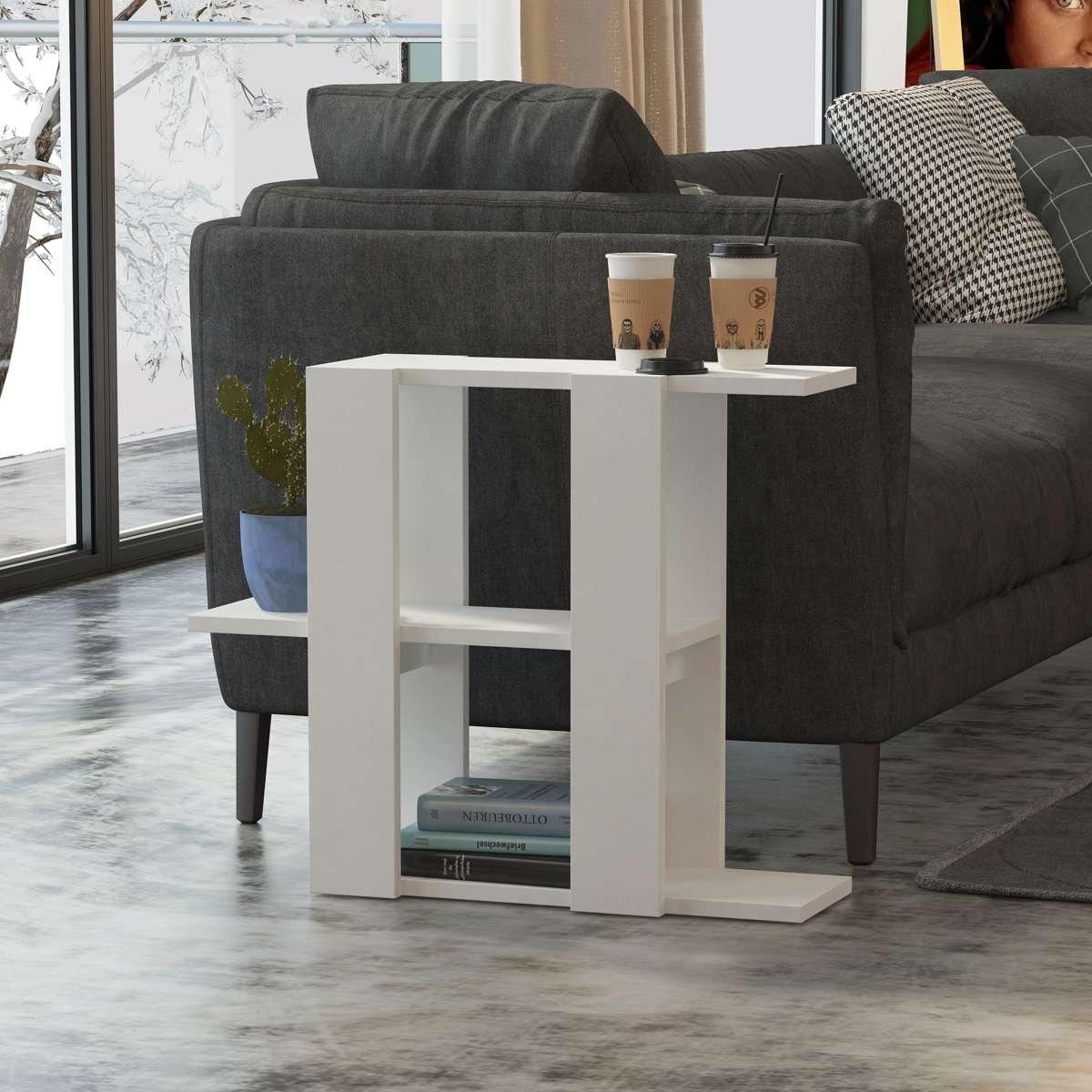 שולחן צד Slalom לבן מסדרת Decoline
