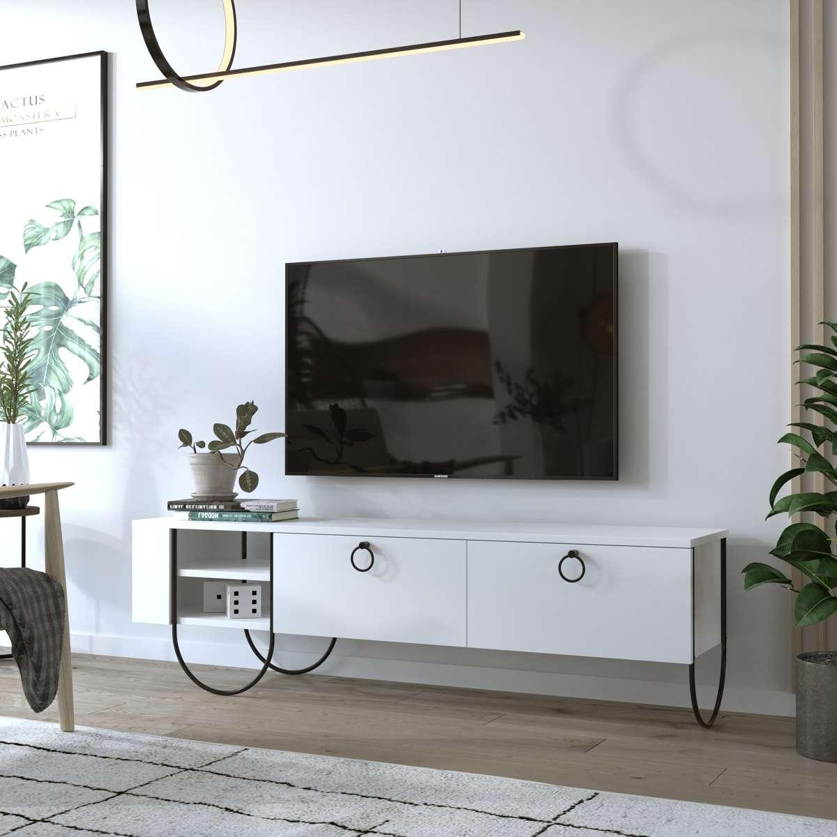 מזנון טלוויזיה Norfolk TV לבן 151ס