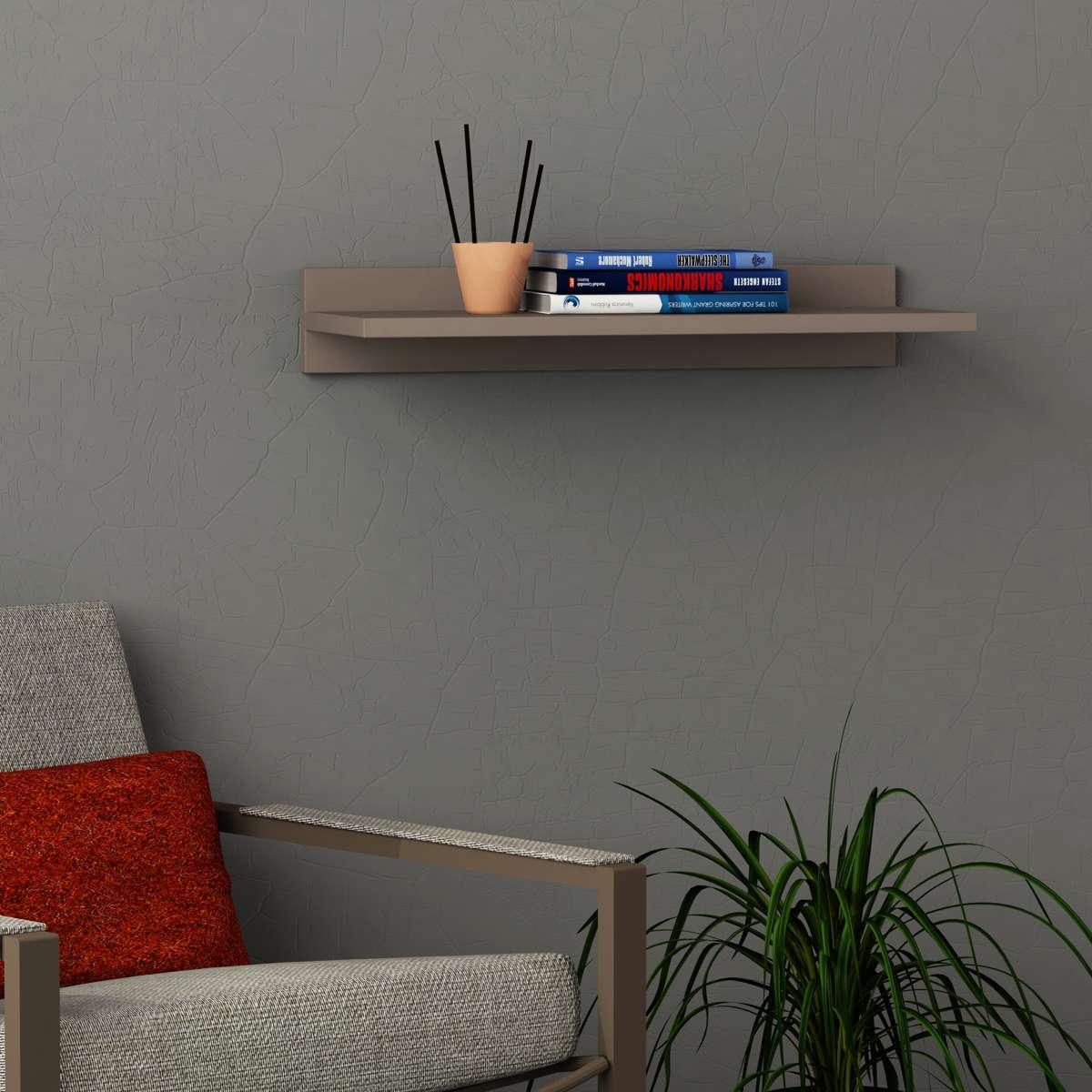 מדף Simple Shelf מוקה מסדרת Decoline