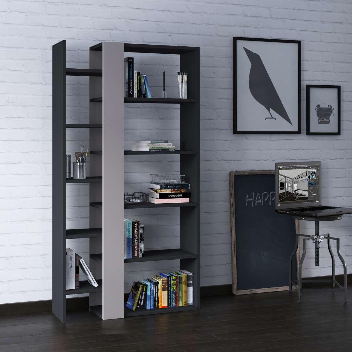 כוננית Lift Bookcase אפור/מוקה מסדרת Decoline