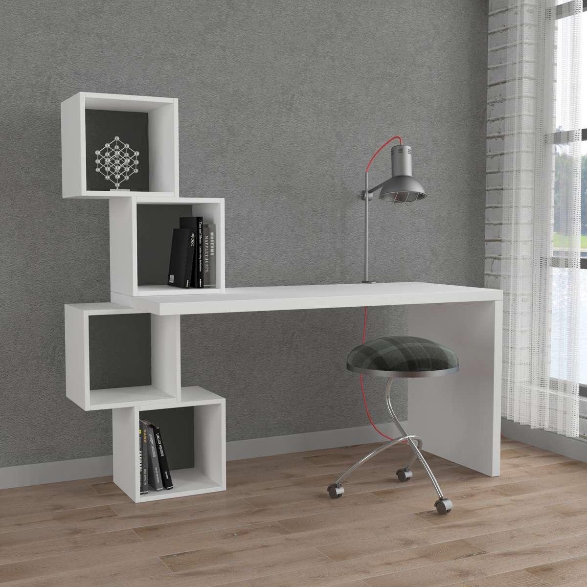 שולחן כתיבה Balance Working table לבן/אפור מסדרת Decoline