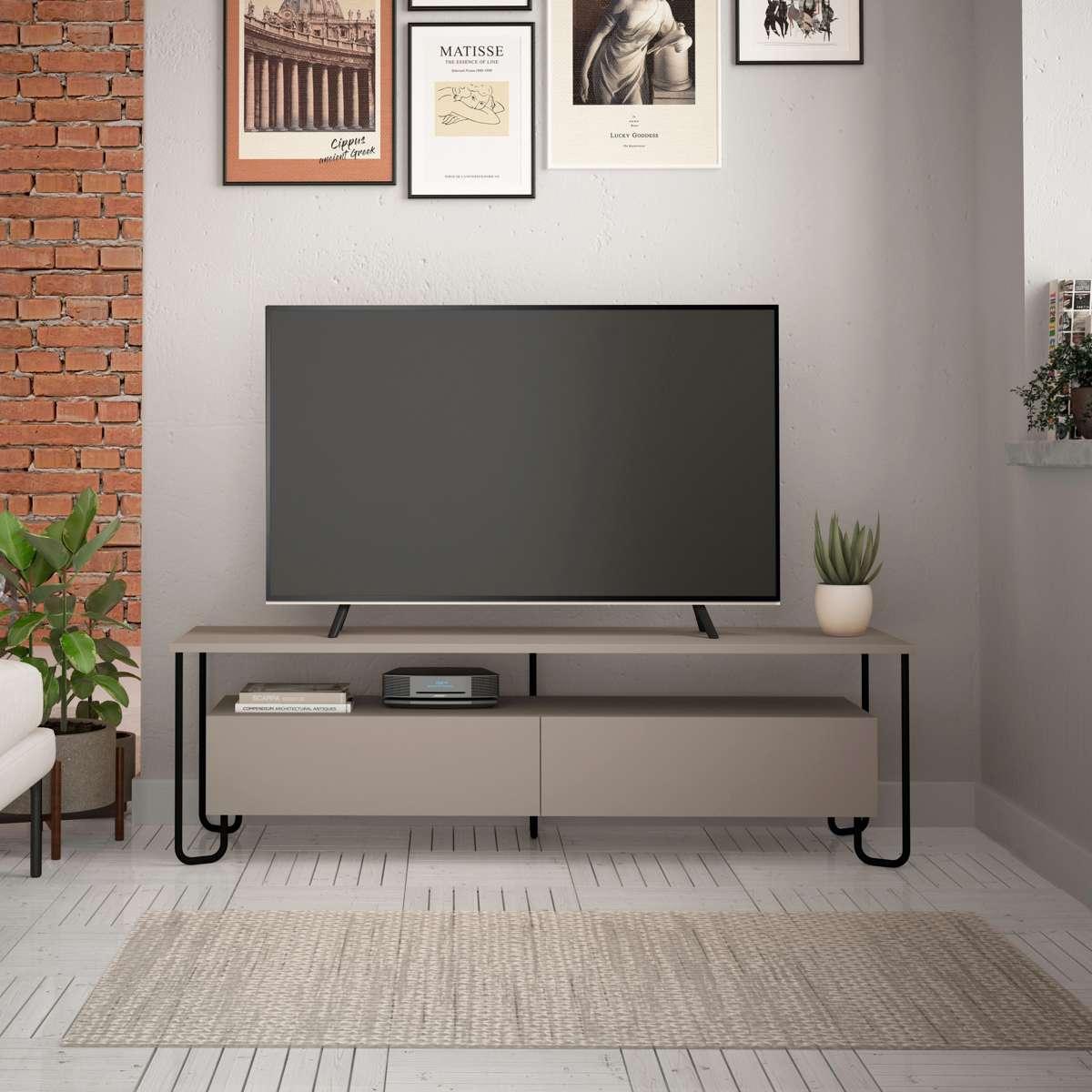 מזנון טלוויזיה פינתי Cornea TV מוקה 150 ס