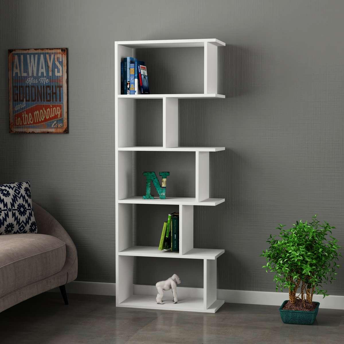 כוננית Tapi Bookcase לבן מסדרת Decoline