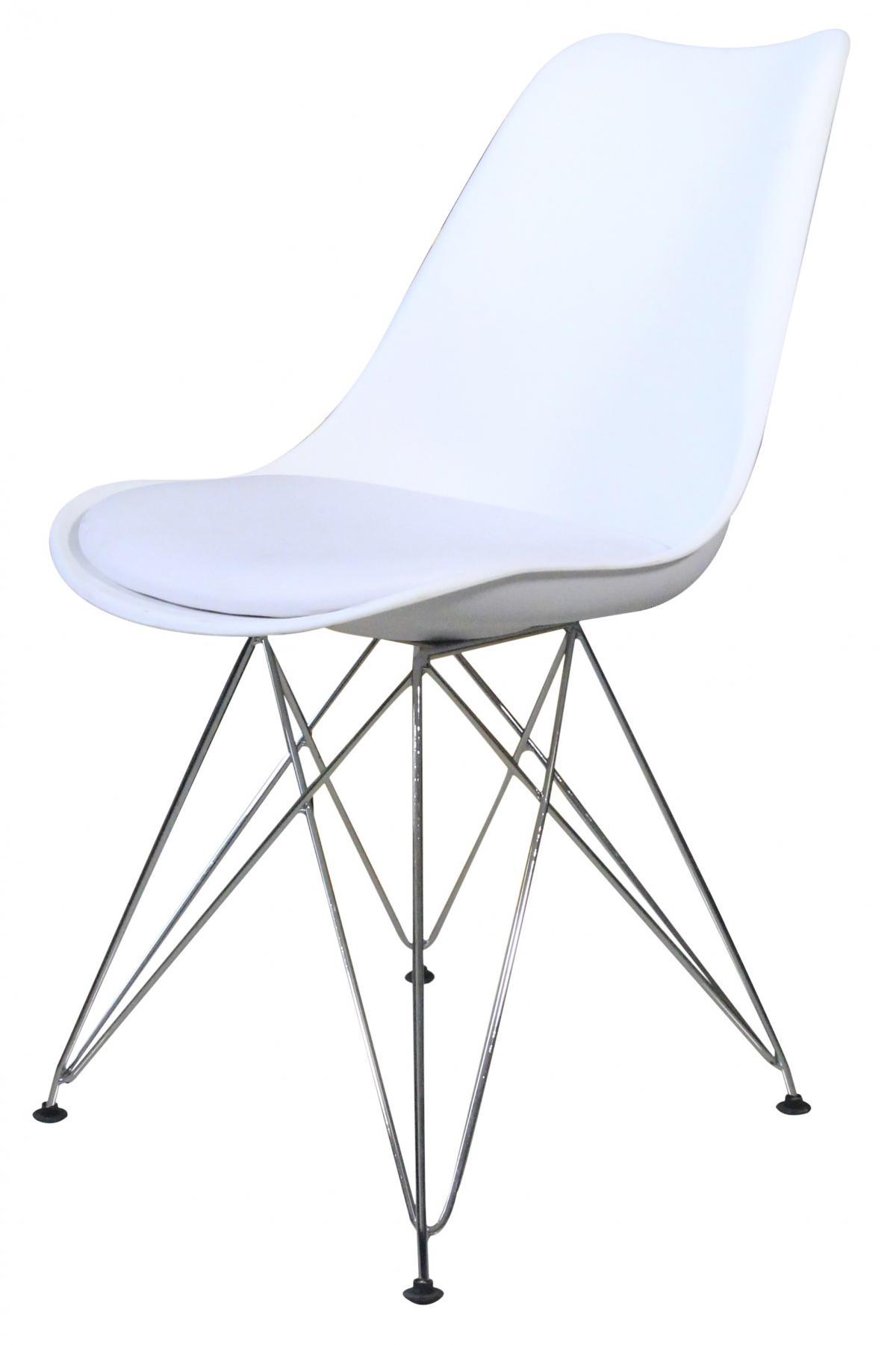 כיסא לפינת אוכל דגם Metal Tulip לבן