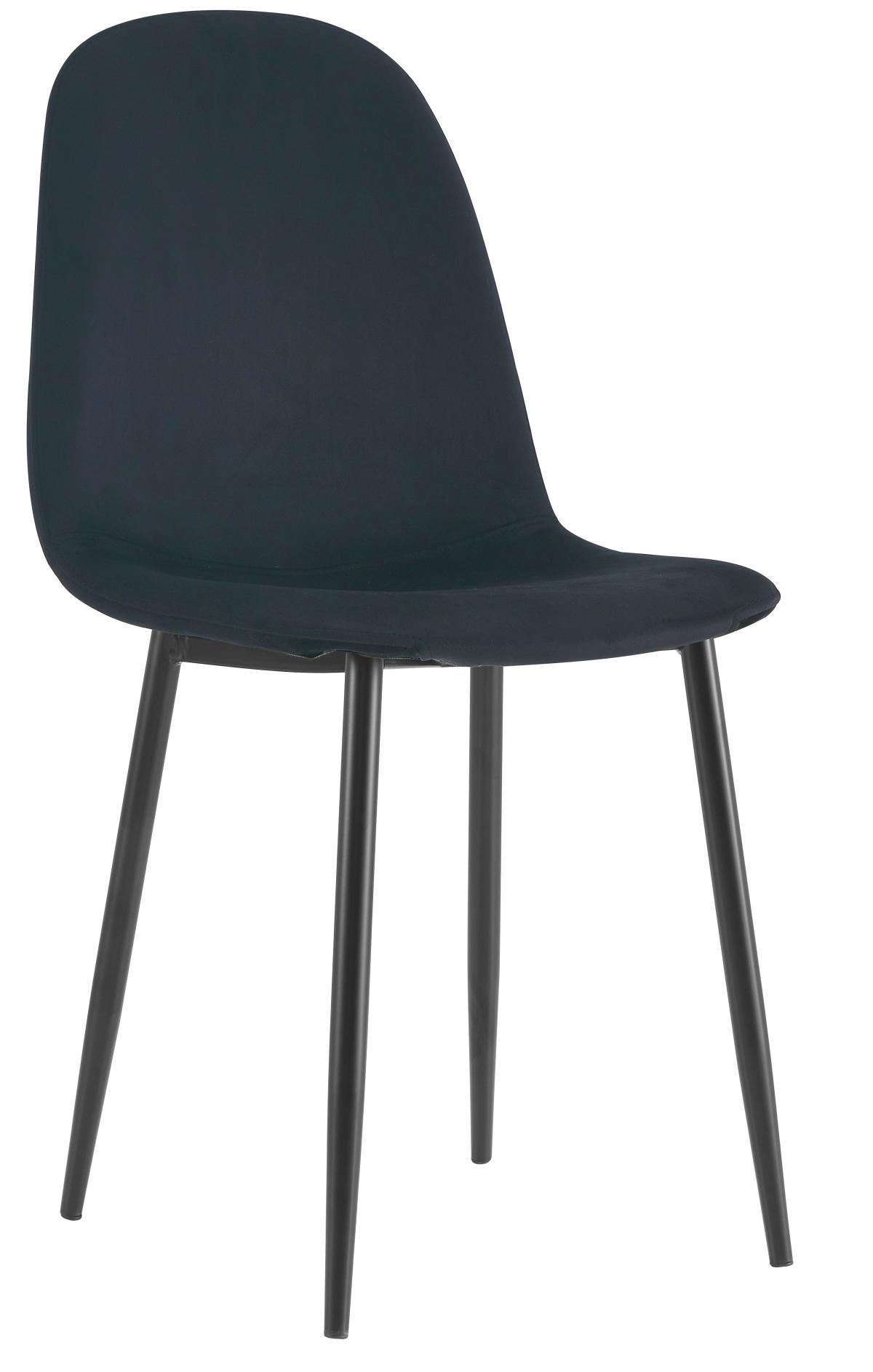 כסא לפינת אוכל דגם SOLNA בד קטיפתי שחור
