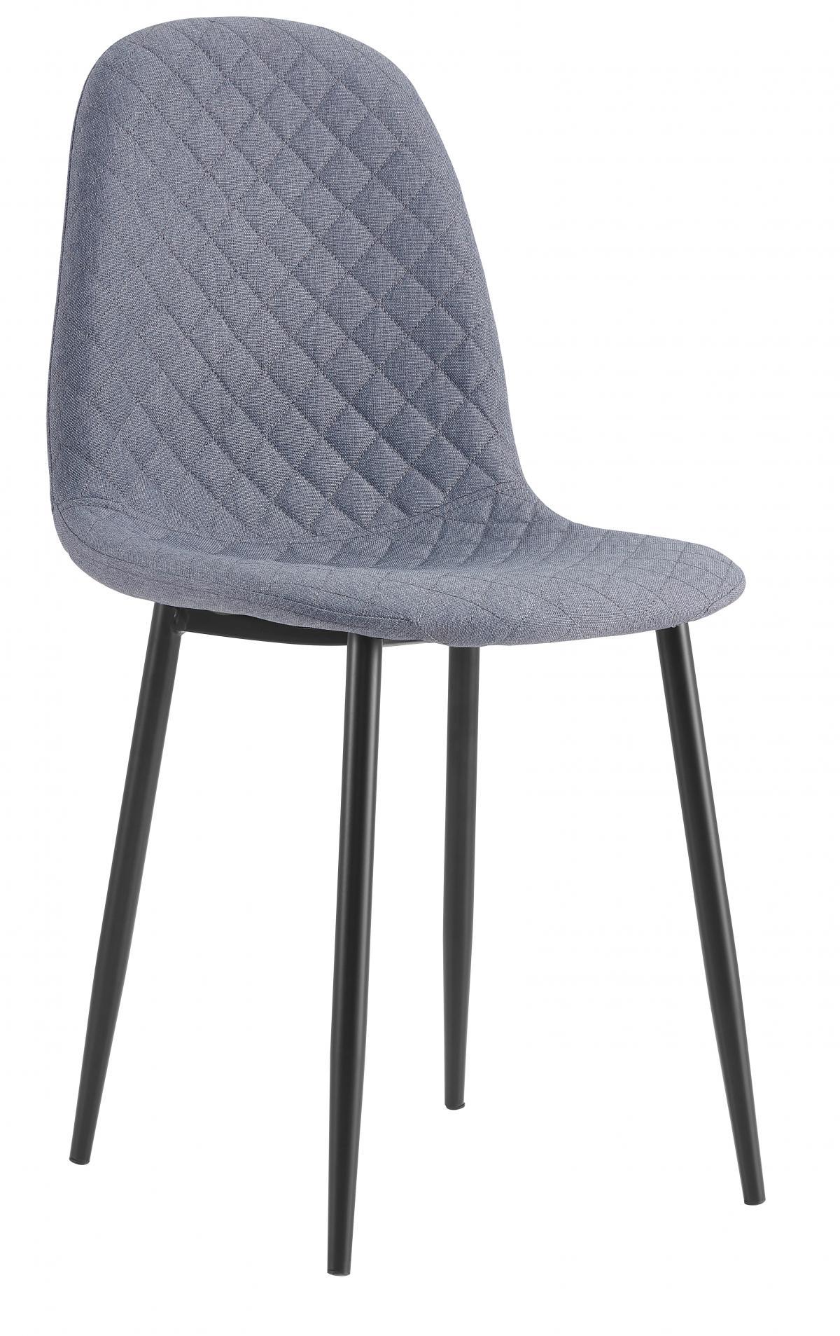 כסא לפינת אוכל דגם SOLNA CHIC בד אריג אפור