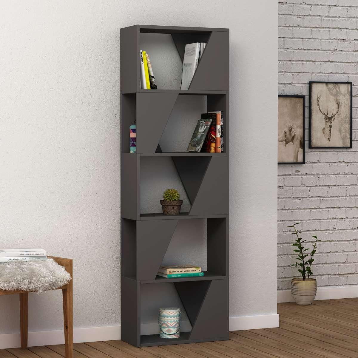 כוננית Frame Bookcase אפור מסדרת Decoline