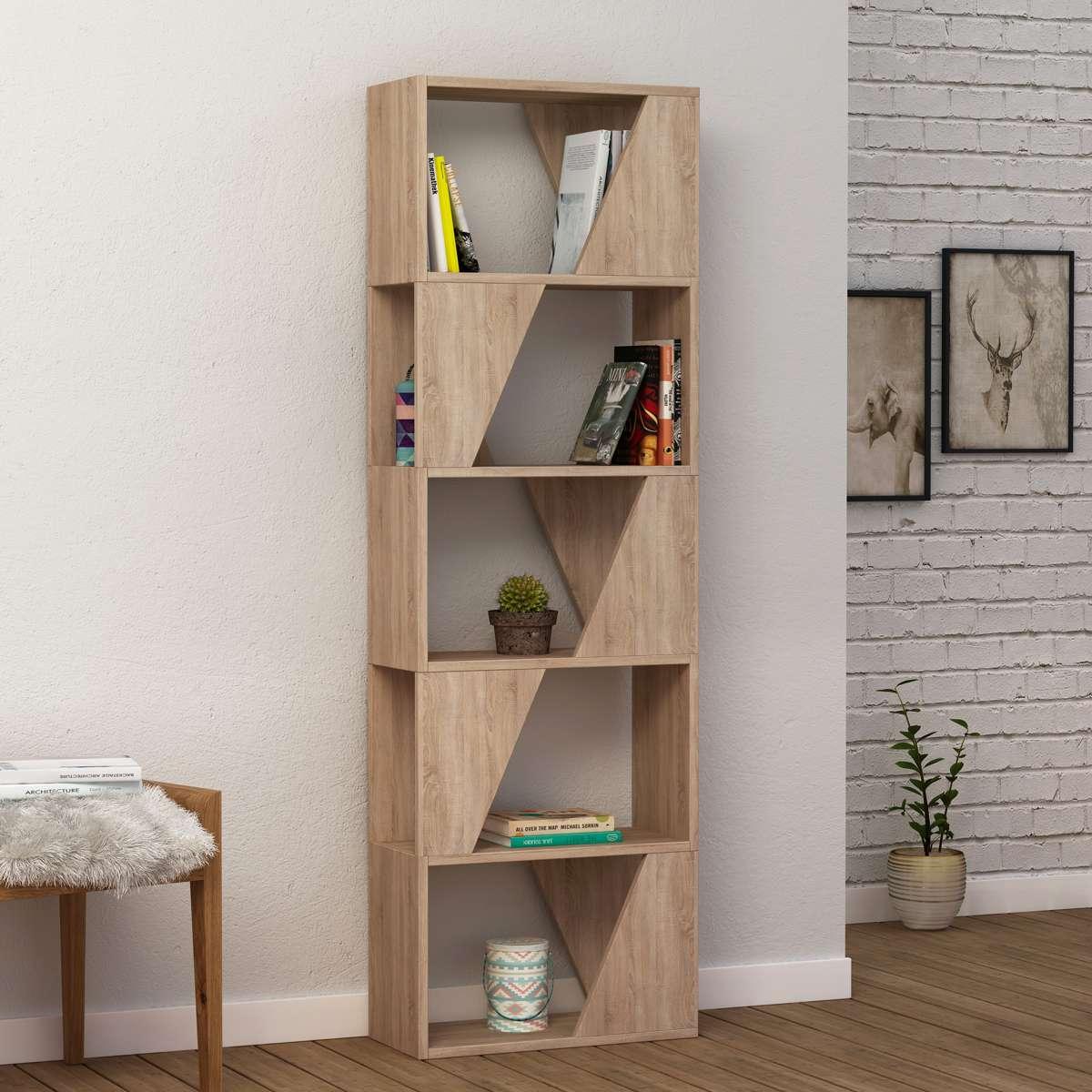 כוננית Frame Bookcase אלון מסדרת Decoline