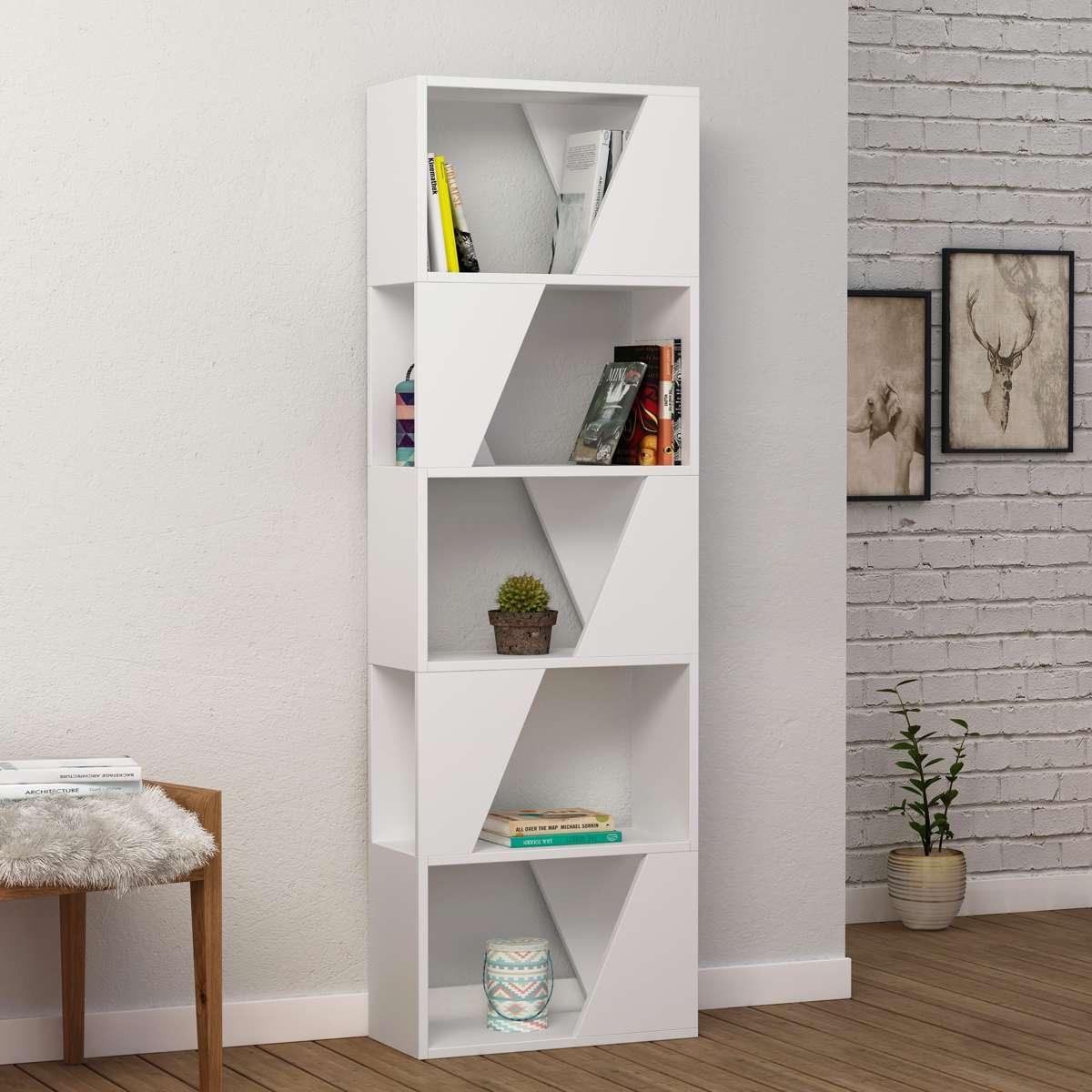כוננית Frame Bookcase לבן מסדרת Decoline