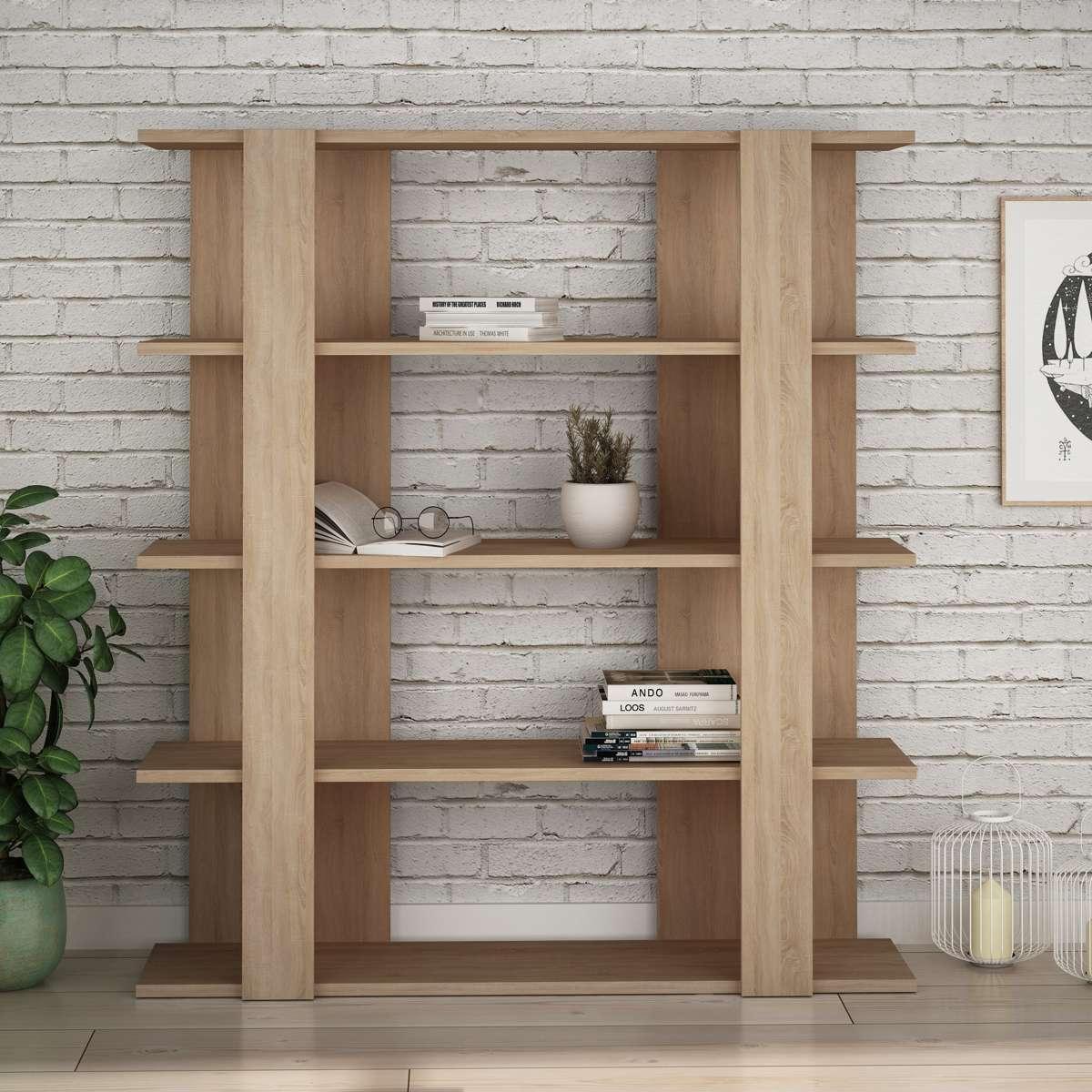 כוננית Tita Bookcase אלון מסדרת Decoline