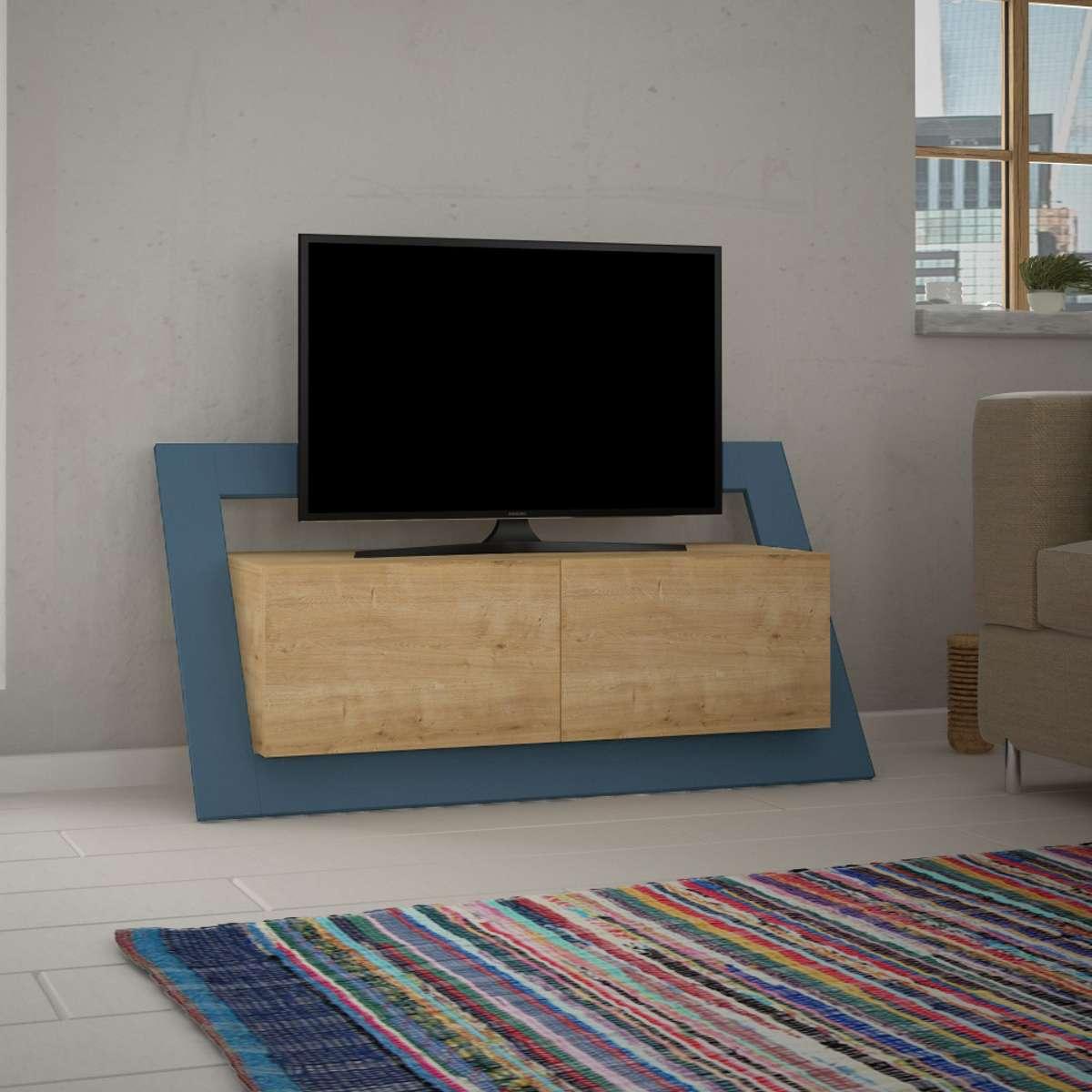 מזנון טלוויזיה Carnaby אלון/טורקיז 120 ס