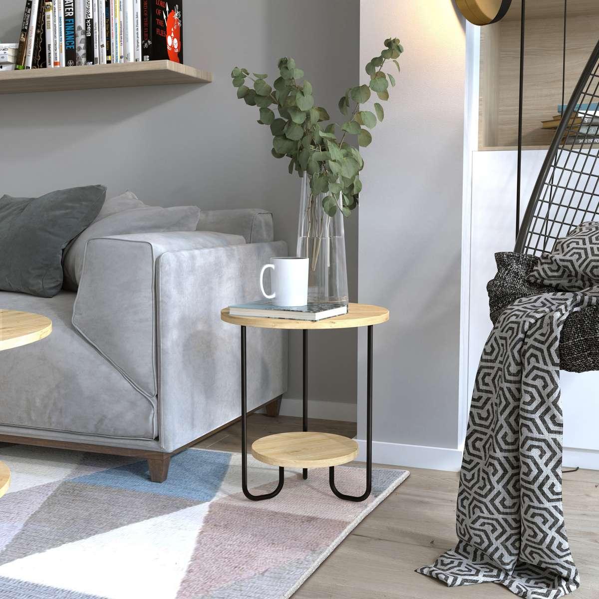 שולחן סלון  CORRO SIDE TABLE אלון מסדרת Decoline