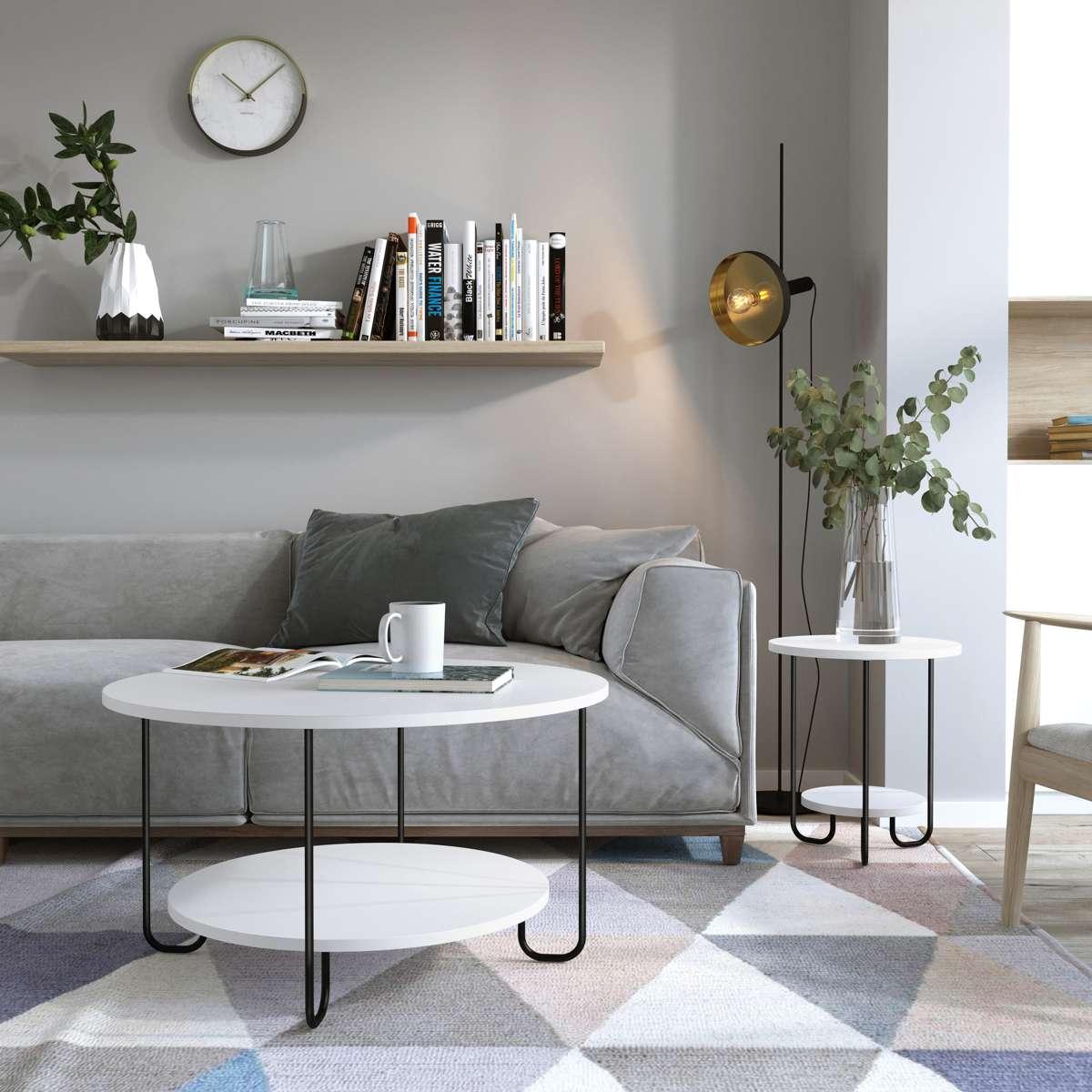 שולחן סלון  CORRO COFFEE  TABLE לבן מסדרת Decoline