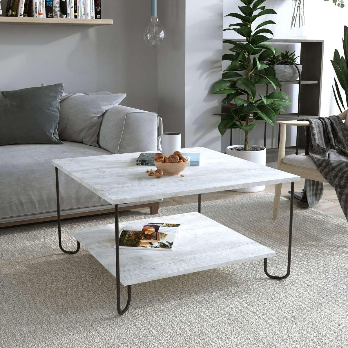 שולחן סלון MARBO COFFEE TABLE אלון מולבן מסדרת Decoline