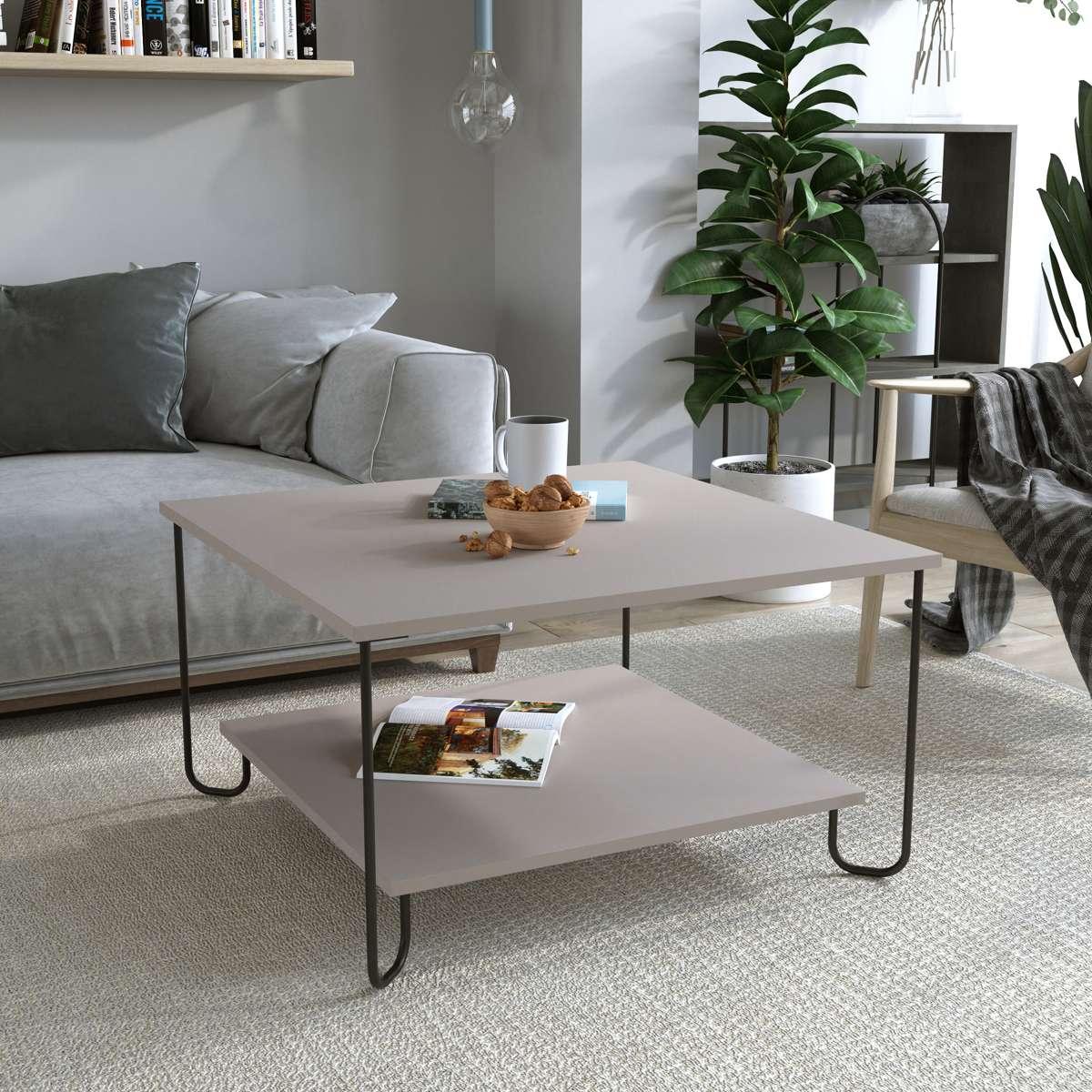 שולחן סלון MARBO COFFEE TABLE מוקה מסדרת Decoline
