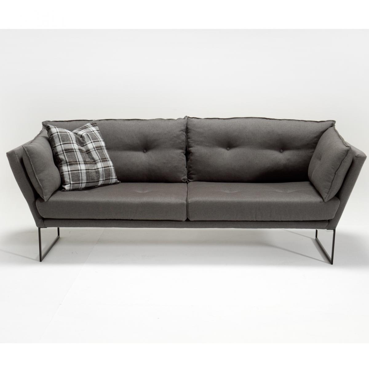 ספה תלת Relax בד אריג אפור במסדרת Evdebiz