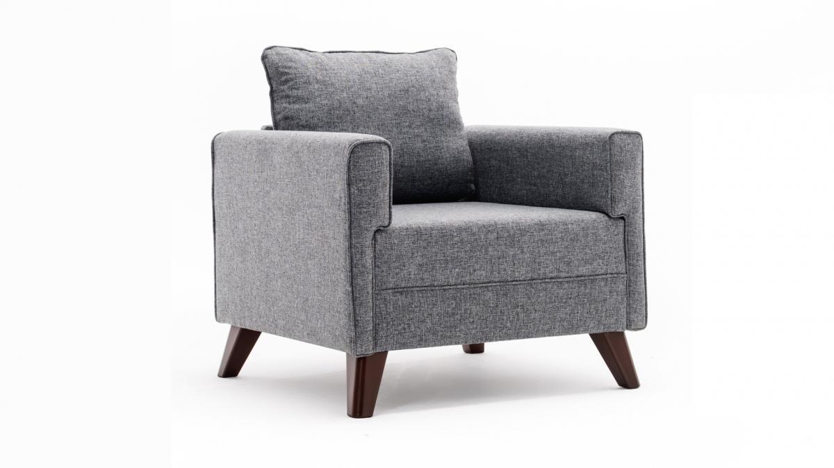 כורסא Bella אפור במסדרת Evdebiz