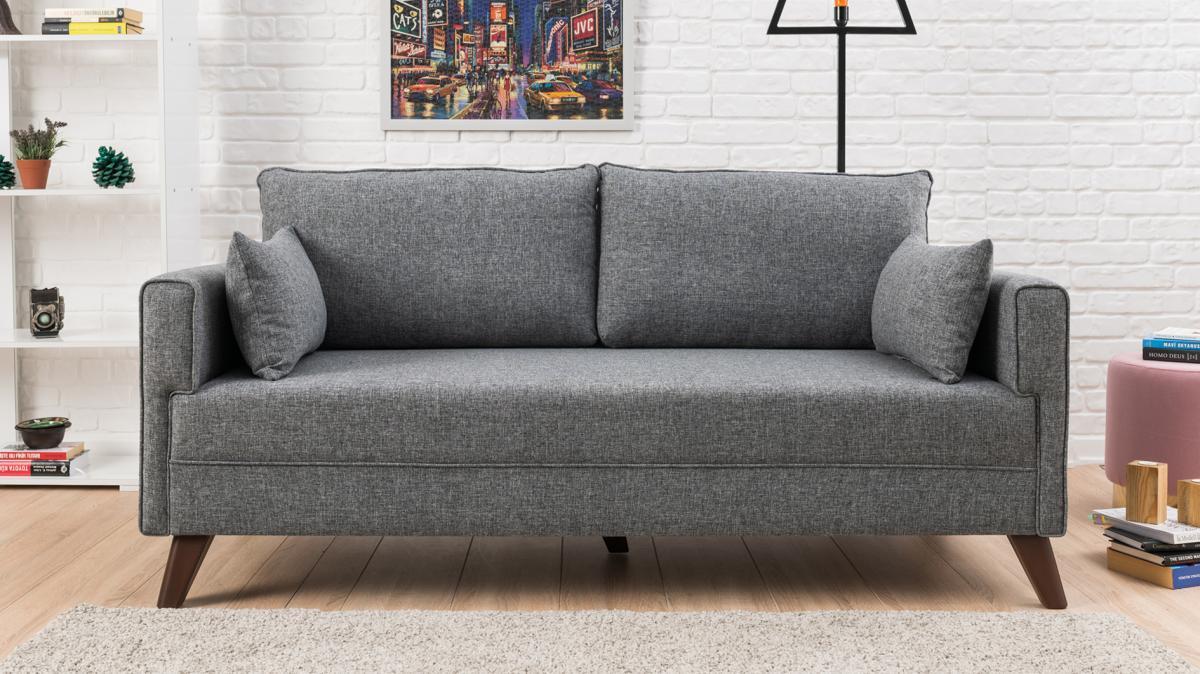 ספה דו Bella אפור במסדרת Evdebiz