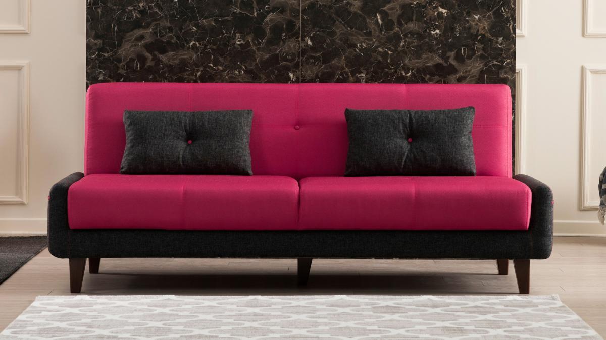 ספה נפתחת למיטה תלת Kanavel אדום במסדרת Evdebiz