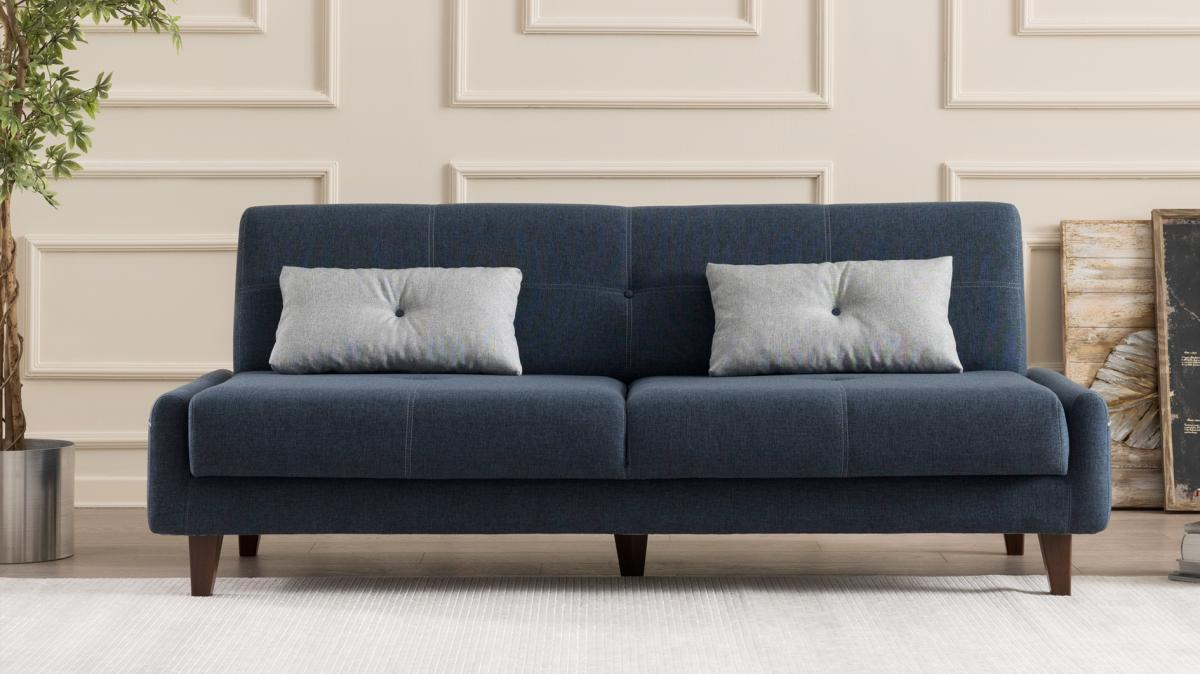 ספה נפתחת למיטה תלת Kanavel כחול במסדרת Evdebiz