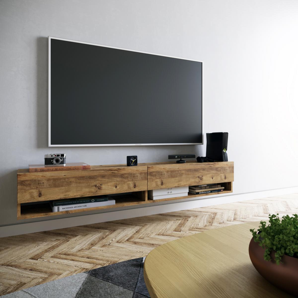 מזנון טלוויזיה תלוי FR9-A אלון 180ס