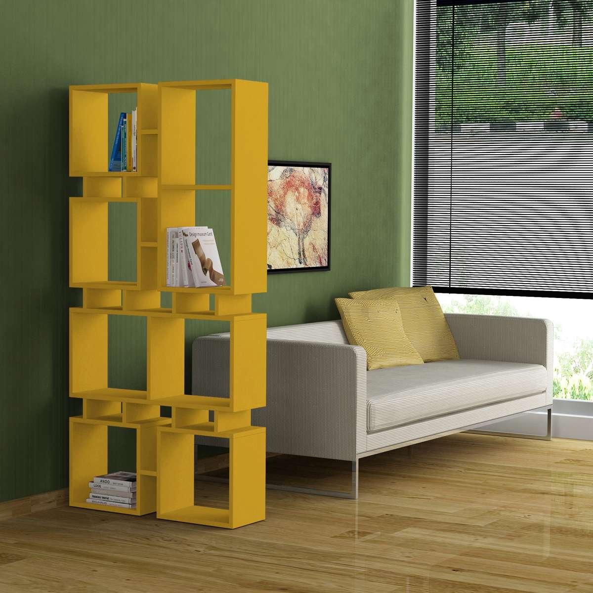 כוננית Rail Bookcase No1 צהוב מסדרת Decoline