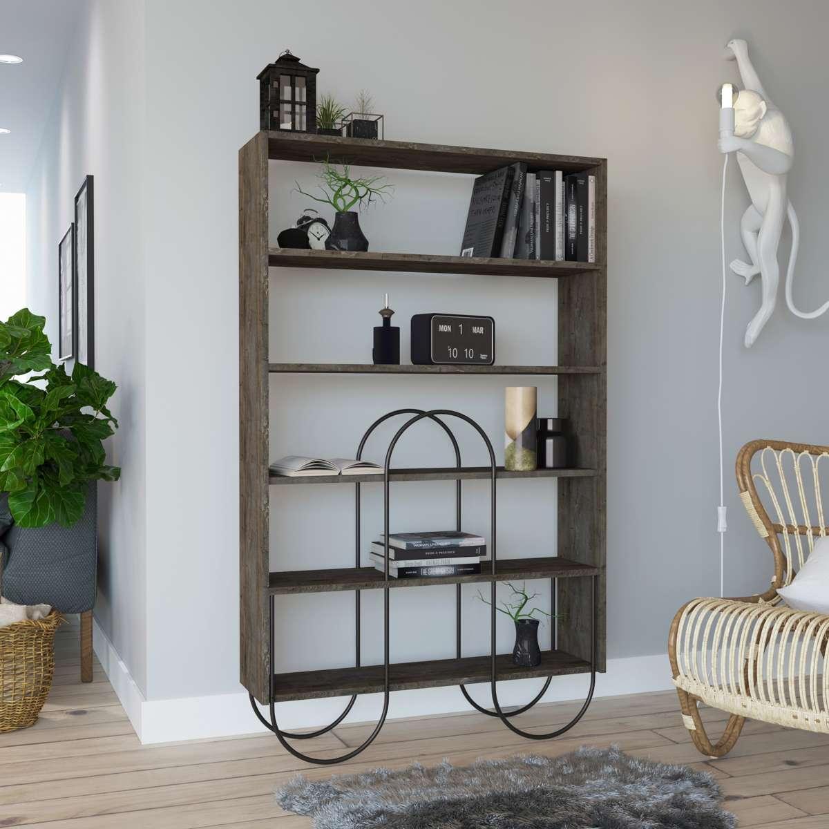 כוננית Norfolk Bookcase קפה מסדרת Decoline