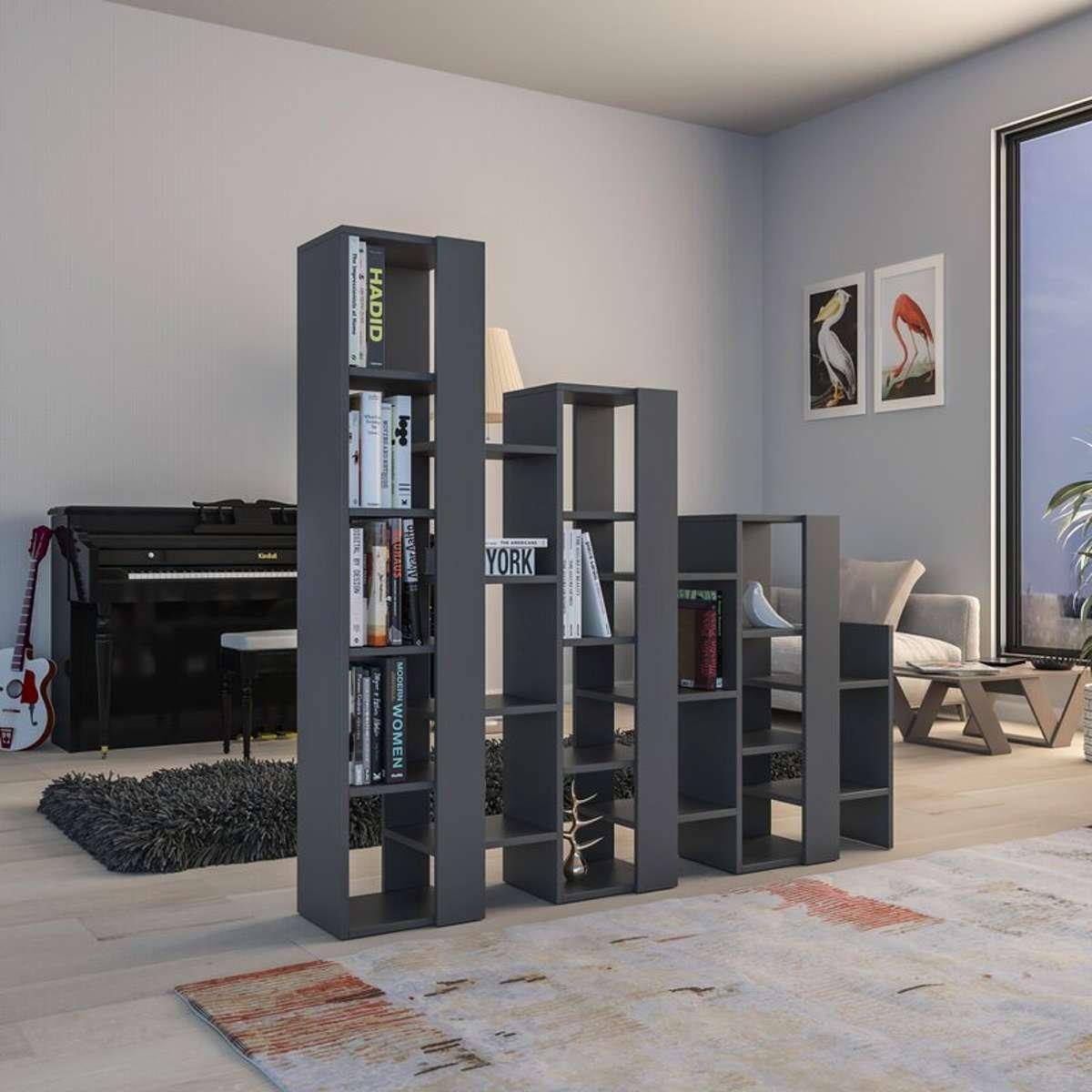 כוננית Lift Separator Bookcase אפור מסדרת Decoline