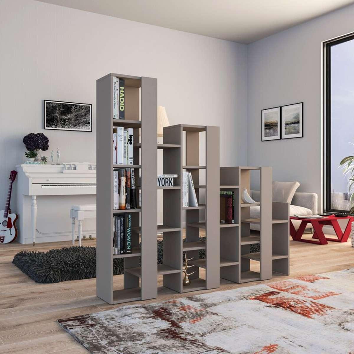 כוננית Lift Separator Bookcase מוקה מסדרת Decoline
