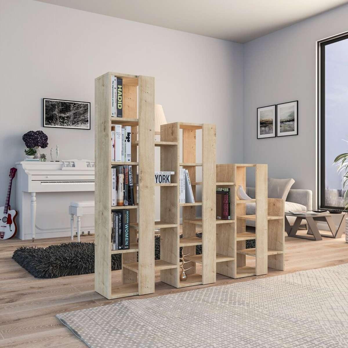 כוננית Lift Separator Bookcase אלון מסדרת Decoline