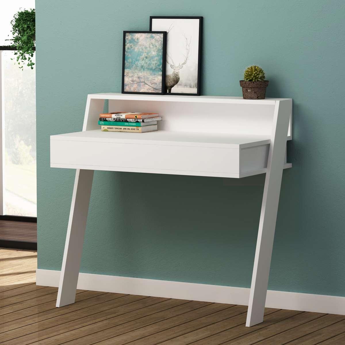 שולחן כתיבה Cowork Working table לבן מסדרת Decoline