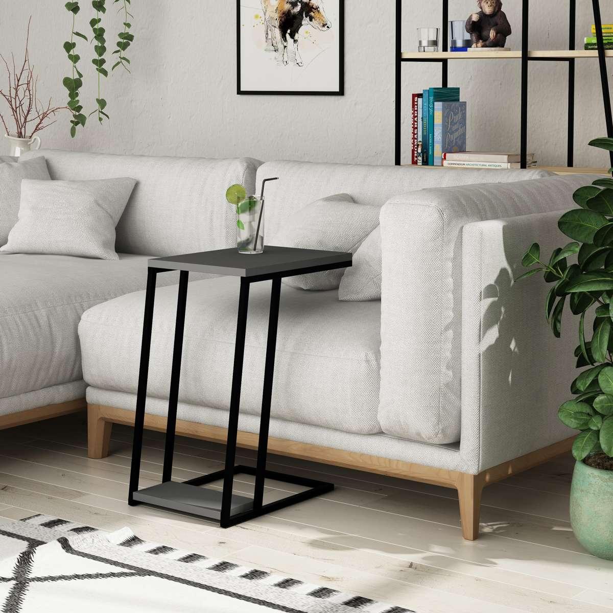 שולחן צד Pal C Side Table אפור מסדרת Decoline אפור מסדרת Decoline