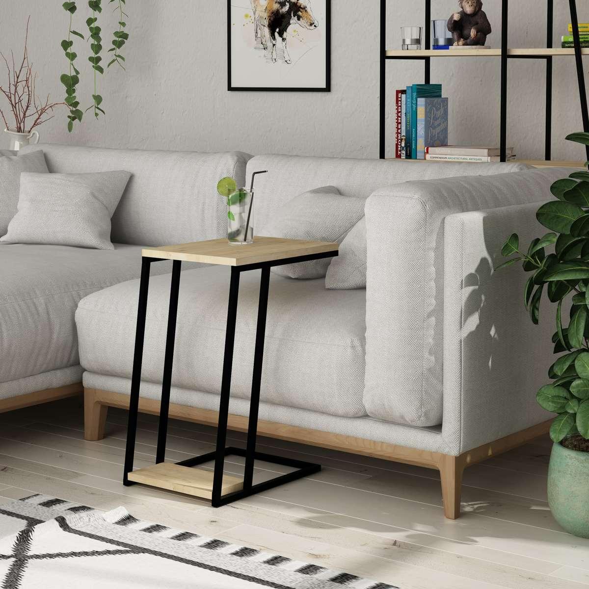 שולחן צד Pal C Side Table אלון מסדרת Decoline אפור מסדרת Decoline