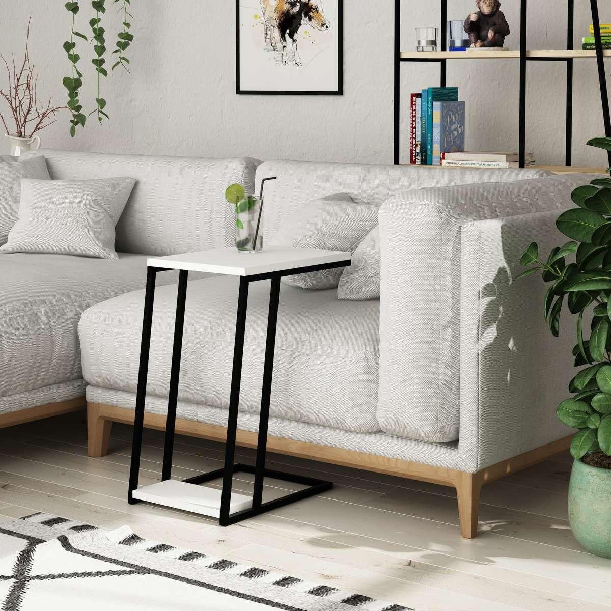 שולחן צד Pal C Side Table לבן מסדרת Decoline אפור מסדרת Decoline