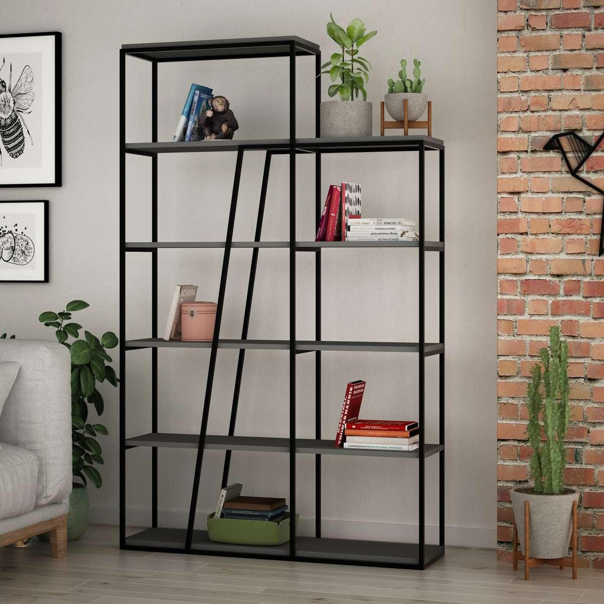 כוננית Pal Bookcase אפור מסדרת Decoline