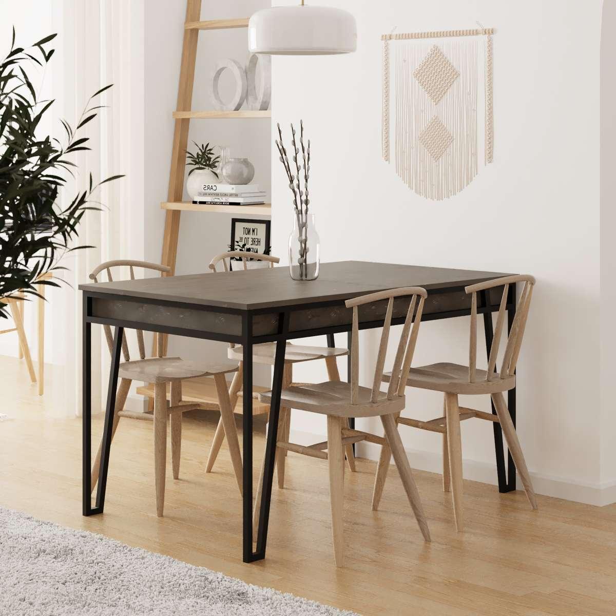 שולחן אוכל דגם Pal Dining Table קפה מסדרת Decoline