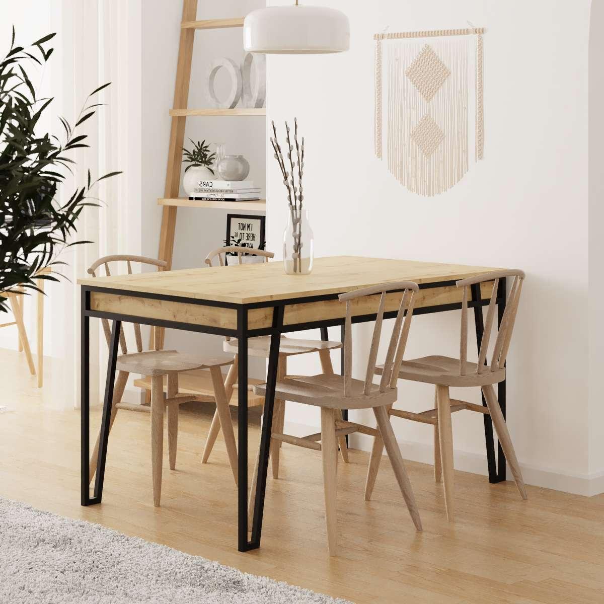 שולחן אוכל דגם Pal Dining Table אלון מסדרת Decoline